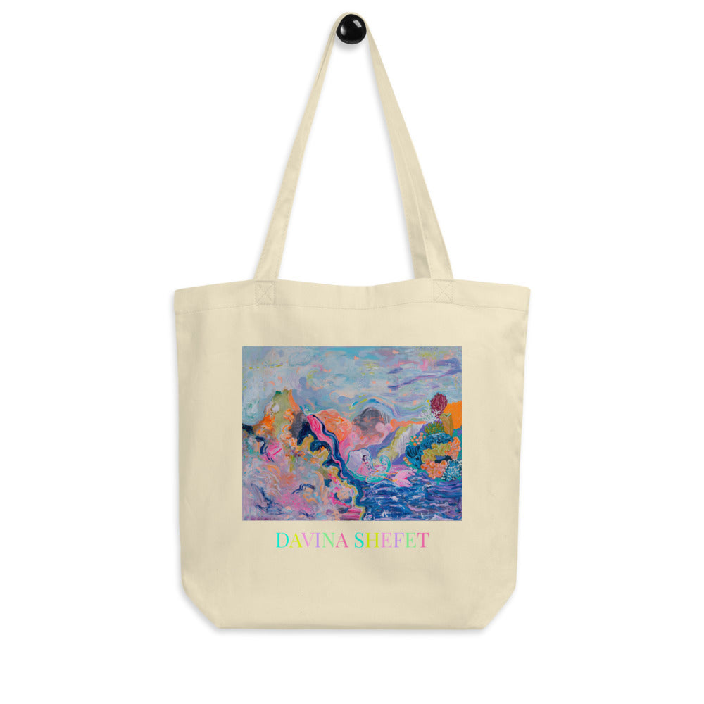 Two different prints on each side, Organic Cotton Tote Bag