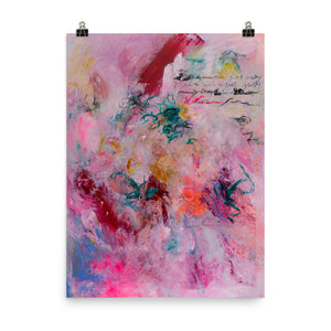 Art Print Abstract Art, Contemporary Fine Art, Pink Abstract Print - Davina Shefet Art Store
