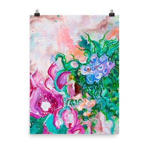 Art Print Abstract Flowers