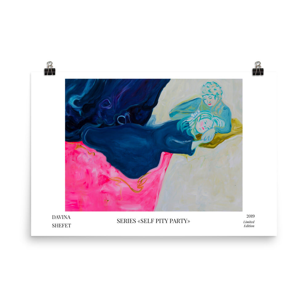 "Art Print ""Cry Baby"" with title and artist name"