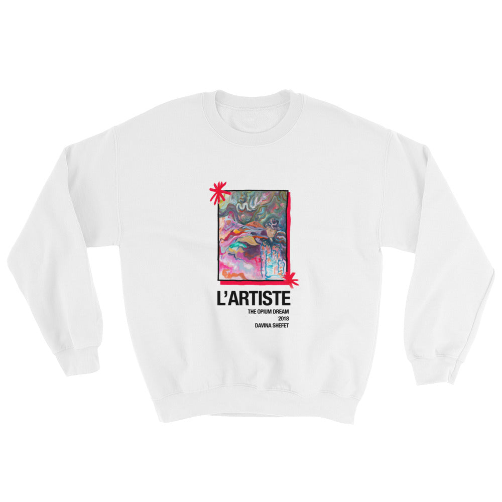 "Sweatshirt ""L'Artiste"" Limited Edition, Several Colors - Davina Shefet Art Store"