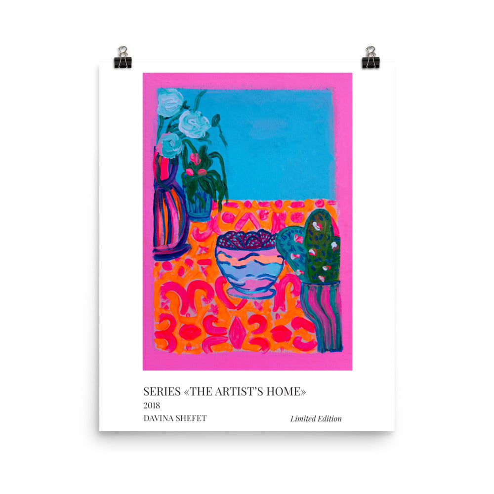 Modern Art Print of Bohemian Interior