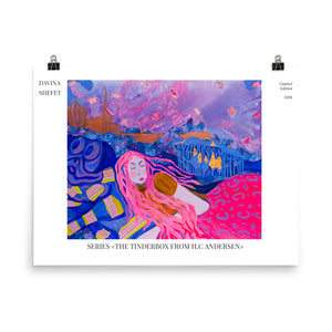 "Art Print of ""The Tinderbox"" Story"