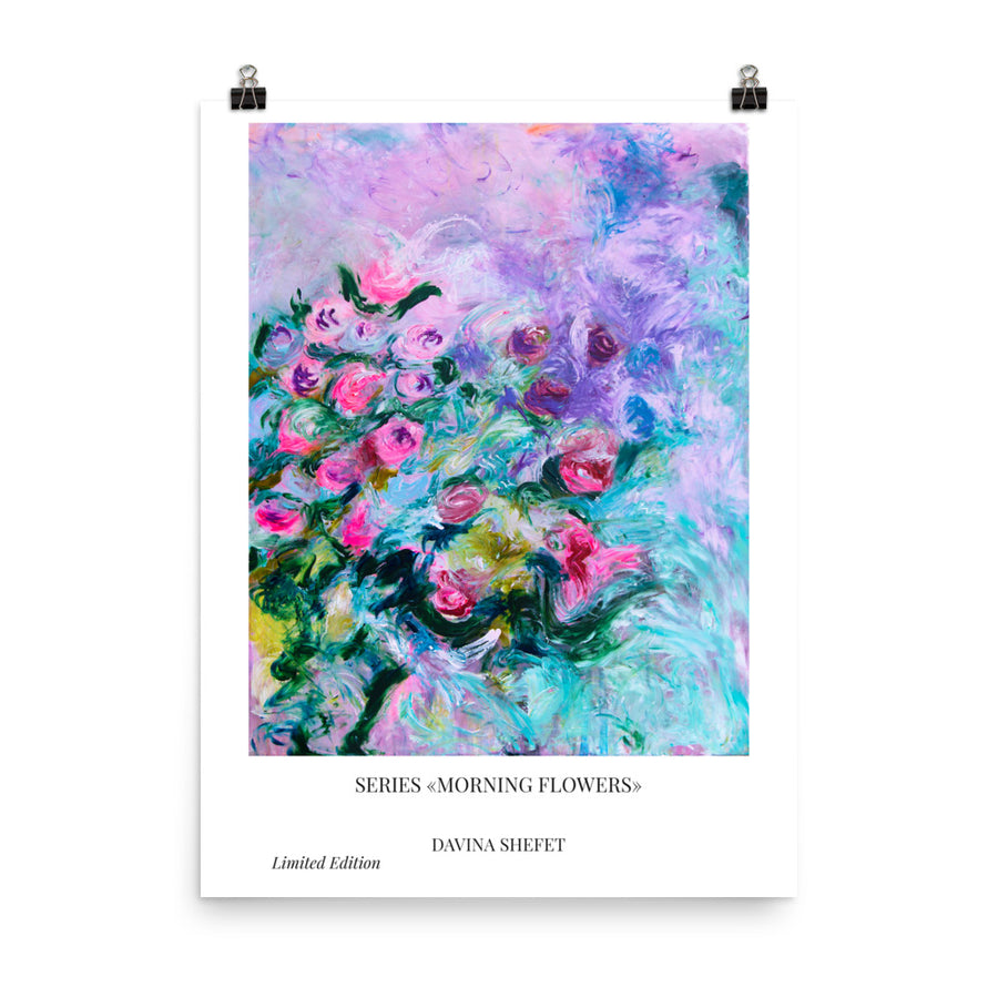 Poster Of Impressionist Flowers - Davina Shefet Art Store