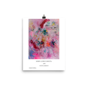 Pink Abstract Art Print, Scandinavian Art Print - Davina Shefet Art Store