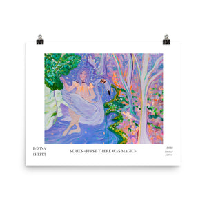 "Art Print with title of ""Girl in Purple Water"""