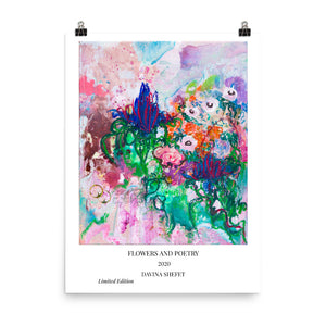 """Flowers and Poetry"" Art Print with Title"