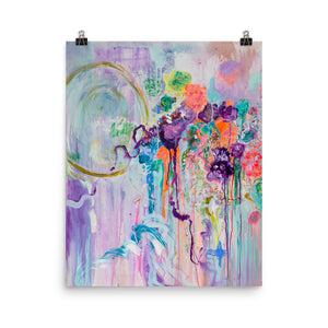 "Abstract Art Print ""Flowers and Poetry"""