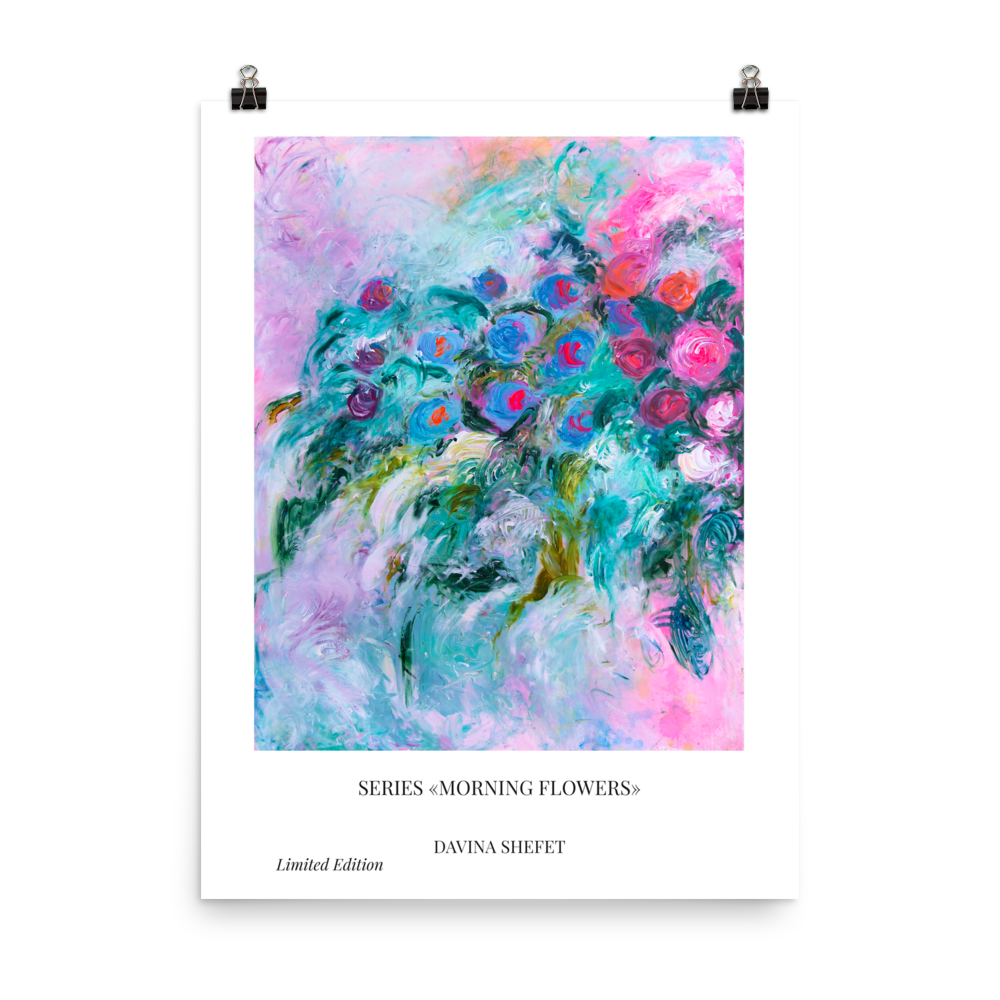 Poster Morning Flowers - Davina Shefet Art Store
