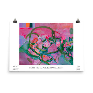 Limited Edition Art Print, Botanical Entanglement - Davina Shefet Art Store