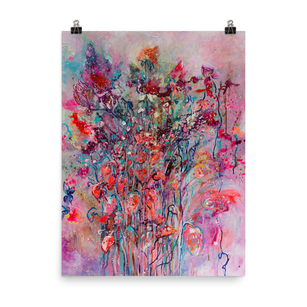 Art Print of Colorful Flower Bouquet