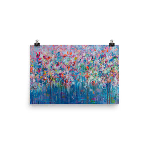 Impressionist Art Print of Flowers - Davina Shefet Art Store