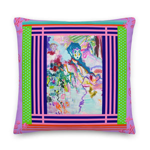 Premium Pillow - Series The Abstract in People - Davina Shefet Art Store