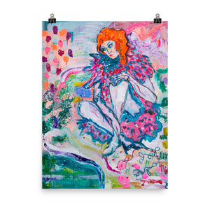 "Art Print of Girl, Series ""Abstract In People"" - Davina Shefet Art Store"