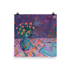 "Limited Edition Art Print, ""Purple Bouquet"" - Davina Shefet Art Store"