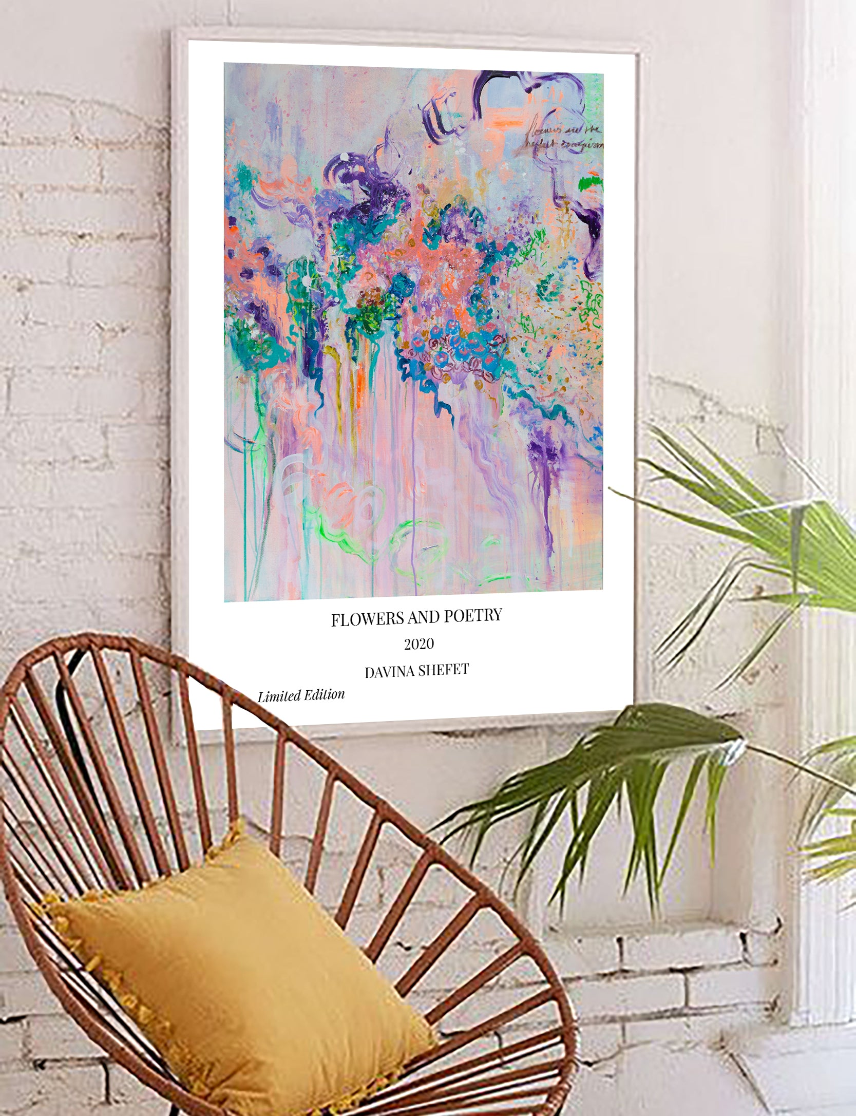 Art Print of Abstract Flower Art