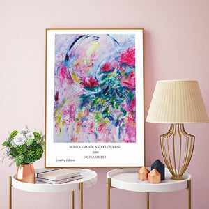 abstract flower art poster