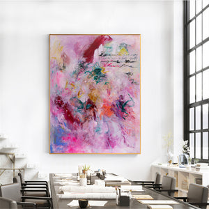 Large Abstract Painting, Acrylic Painting on Canvas