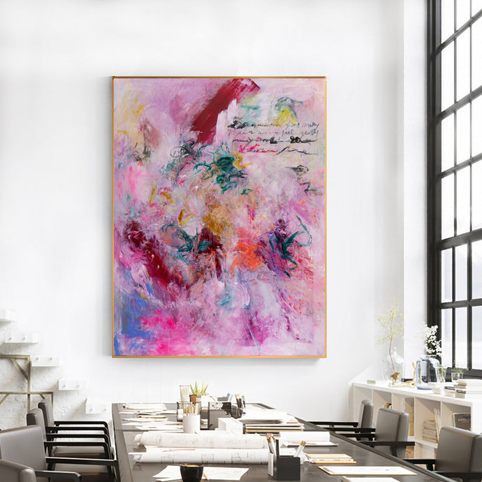 Art Print Abstract Art, Contemporary Fine Art, Pink Abstract Print