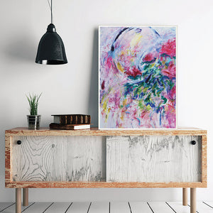 Art Print Abstract Flowers, Contemporary fine art print