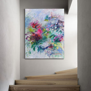 Abstract original painting by emerging artist Davina Shefet
