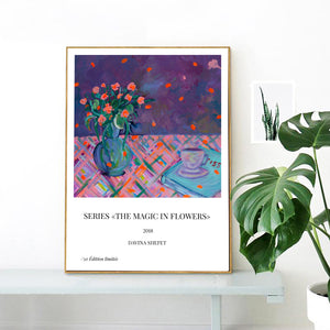 Art Print of Purple Bouquet, Modern Art - Davina Shefet Art Store