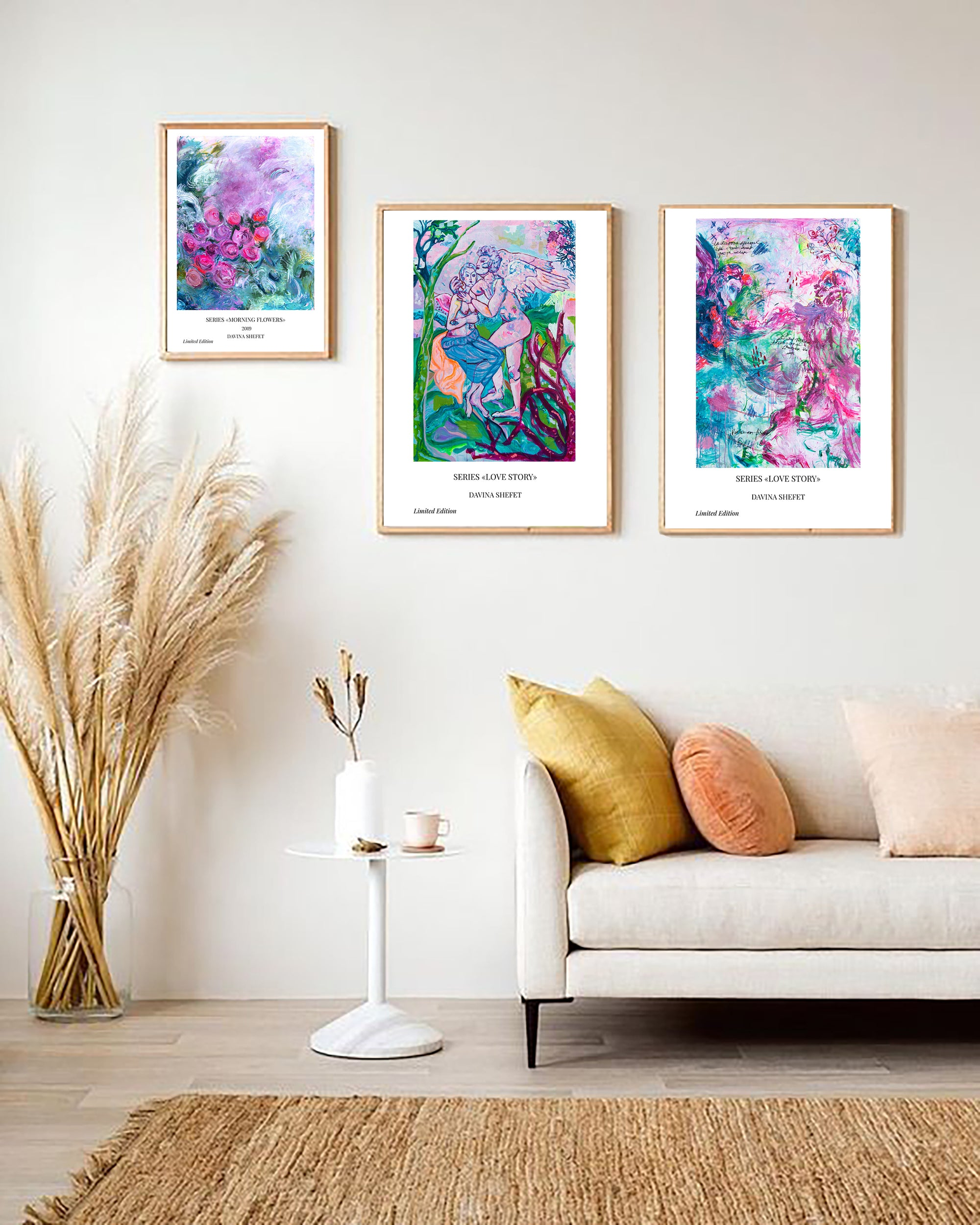Contemporary Art, Angel Art Print - Davina Shefet Art Store