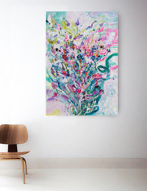 Original Painting Firework Flowers