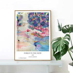 Fine Art Print, Abstract Landscape Art Print - Davina Shefet Art Store