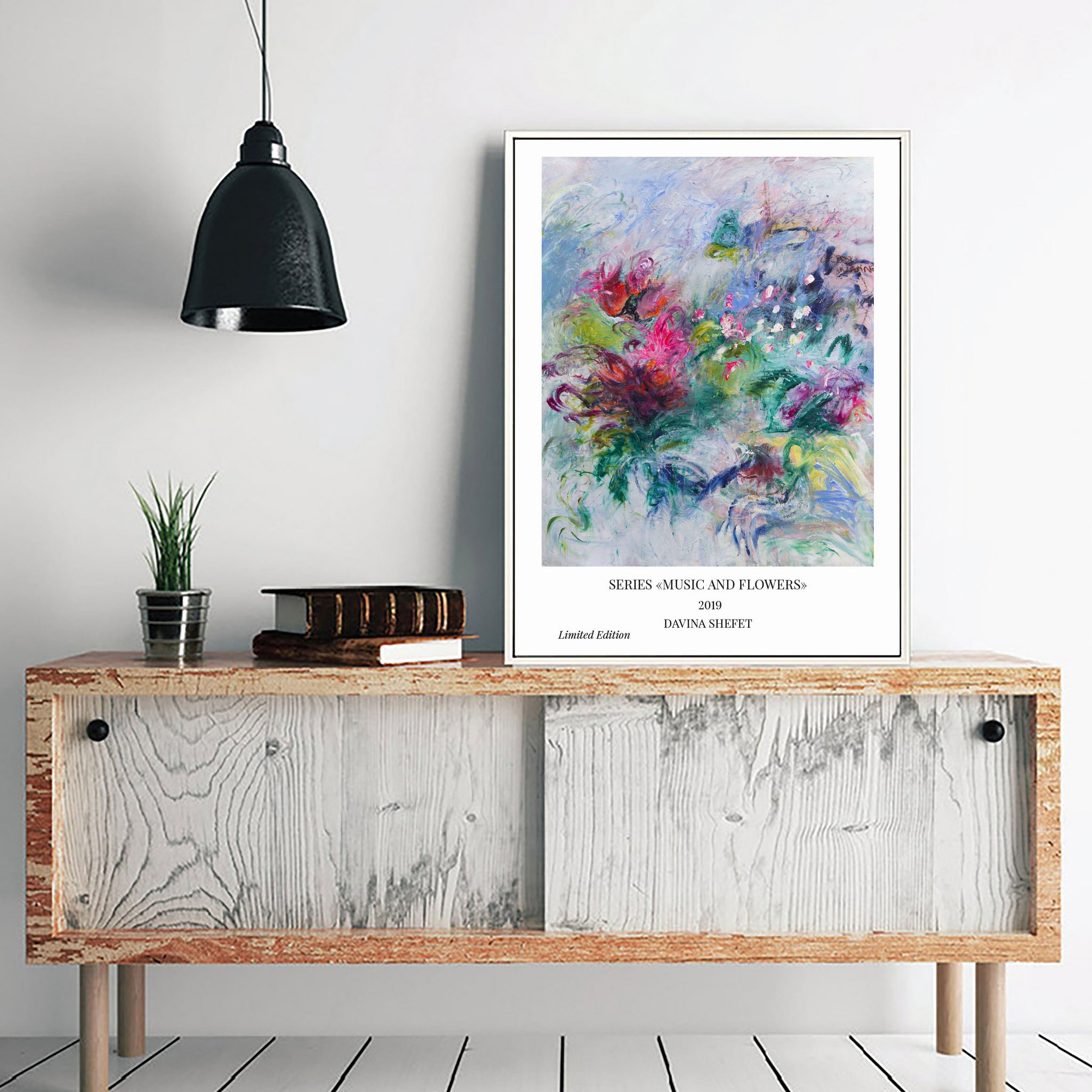 abstract flowers print
