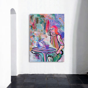 Art Print of woman portrait, contemporary art