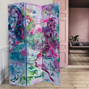 Painted Screen/ Room Divider - Original Painting