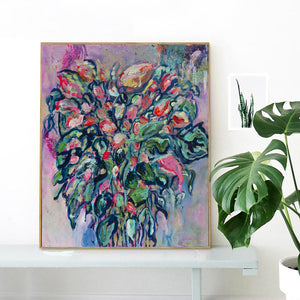 "Blue Bouquet, Series ""The Magic in Flowers"", Original painting - Davina Shefet Art Store"