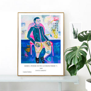 Pink Chair Poster, Contemporary Art Print - Davina Shefet Art Store