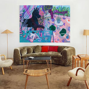 """Original Painting Series ""The Artist's Home"