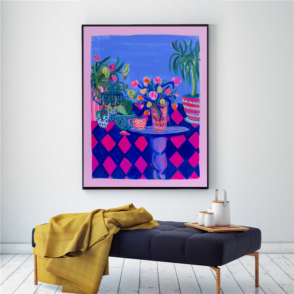 Bohemian Decor, Pots and Plants Art Print