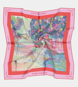 Silk Scarf of Forest under the snow