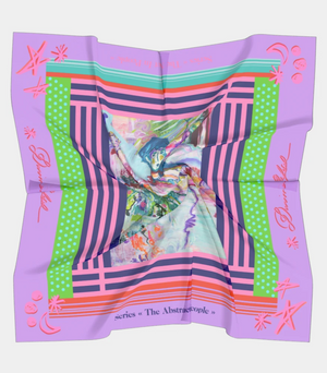 Silk Scarf of The Abstract In People