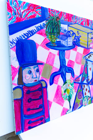 "Original Painting illustrating ""The Steadfast Tin Soldier"" Story by HC Andersen - Davina Shefet Art Store"