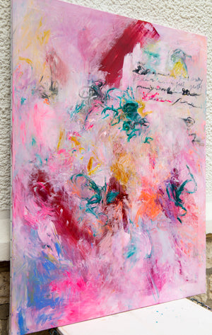 Large Abstract Painting, Acrylic Painting on Canvas - Davina Shefet Art Store