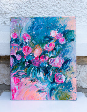 Small Format Flower Painting - Davina Shefet Art Store