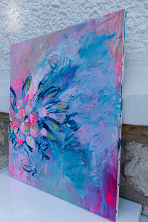 Flower Art on canvas - Davina Shefet Art Store