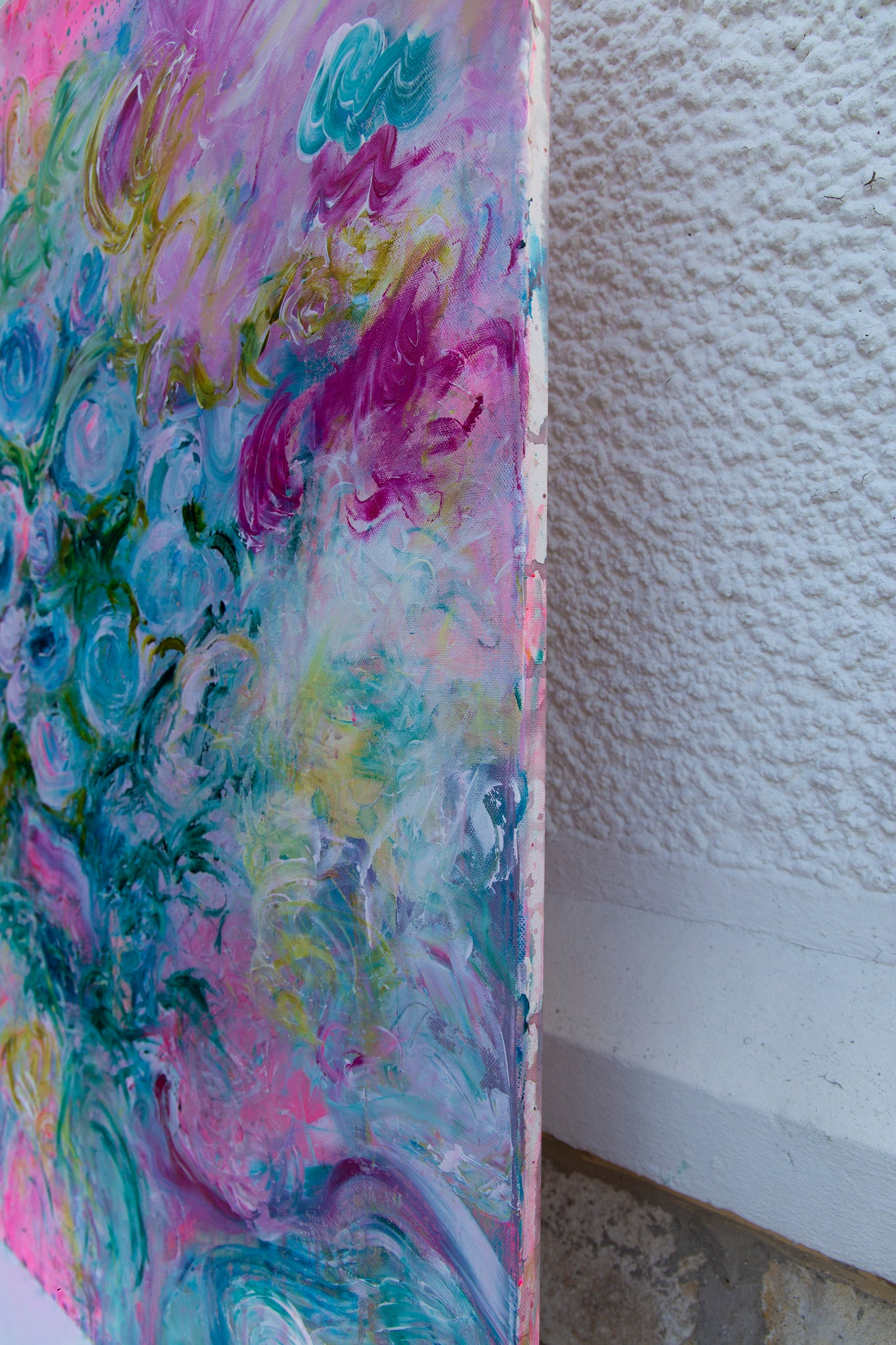 "Flower Painting ""Roses can be blue"""