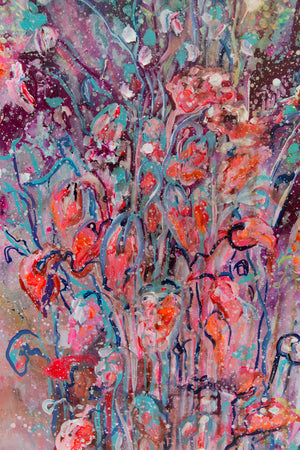 "The Big Bouquet, Series ""The Magic in Flowers"", Original painting - Davina Shefet Art Store"