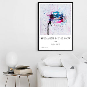 Art Print of White Abstract Art, Minimal Art - Davina Shefet Art Store