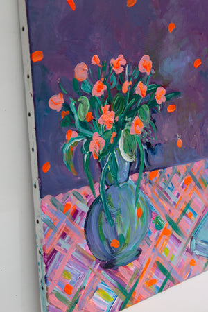 Purple Bouquet, Acrylic Original painting