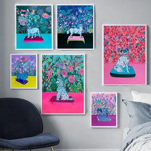 Royal Puppies Wall - Davina Shefet Art Store