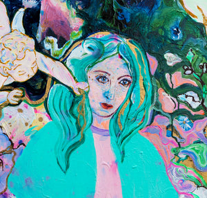 "Woman part of ""Lovers in Persian Colours"" Painting"