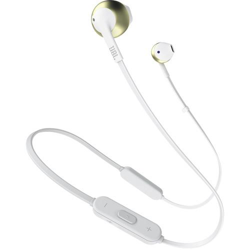 JBL TUNE 205BT Wireless Bluetooth Earbud Headphones (Champagne Gold) - Rock and Soul DJ Equipment and Records