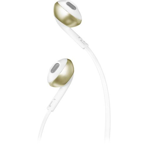 JBL TUNE 205BT Wireless Bluetooth Earbud Headphones (Champagne Gold)